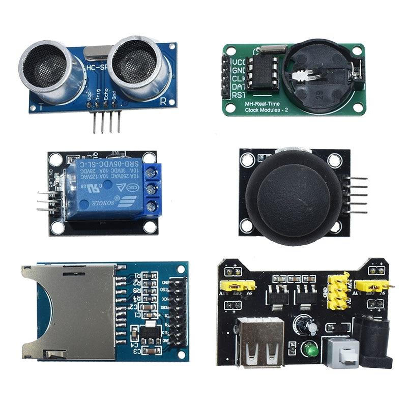 Para módulos de sensores arduino 45 en 1 Kit de iniciación mejor que 37in1 kit de sensores 37 en 1 Kit UNO R3 MEGA2560