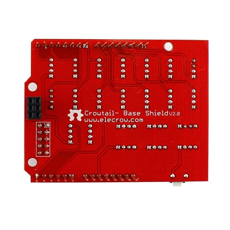 Elecrow nuevo actualizado Crowtail Base Shield 2,0 para Arduino Compatible IDE componentes electrónicos módulos DIY Kit principal extender tablero