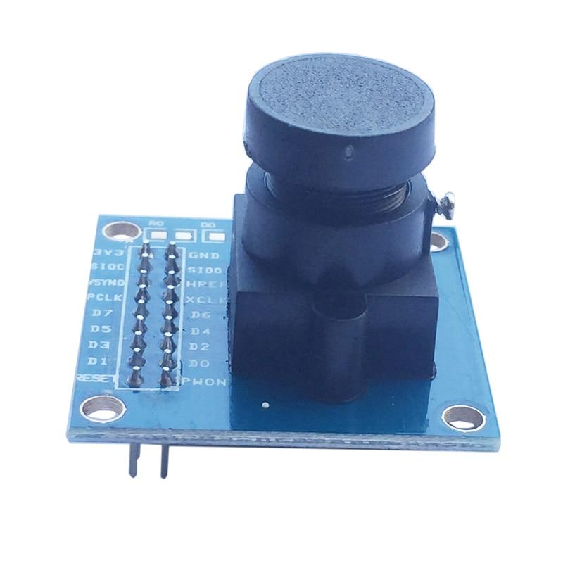 OV7670 300KP módulo de cámara Compatible con VGA CIF 640X480 Control de exposición automático pantalla Compatible I2C interfaz para Arduino DIY KIT