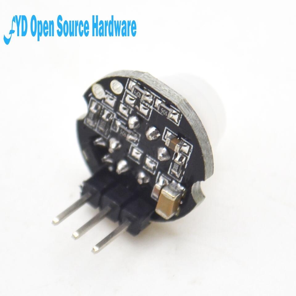 1 Uds. MH-SR602 MINI Módulo de Detector de Sensor de movimiento piroeléctrico infrarrojo PIR kit soporte de interruptor sensorial para arduino Diy con lente