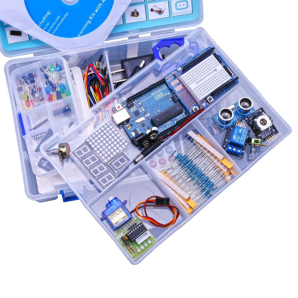 Kit de iniciación de versión avanzada actualizado Kit de Suite de aprendizaje LCD 1602 para arduino diy kit
