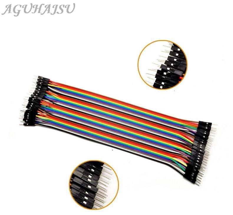 Dupont línea 40P 10 cm/15 cm/40 cm macho a macho + hembra a macho y hembra a hembra puente Cable Dupont Cable para arduino DIY KIT