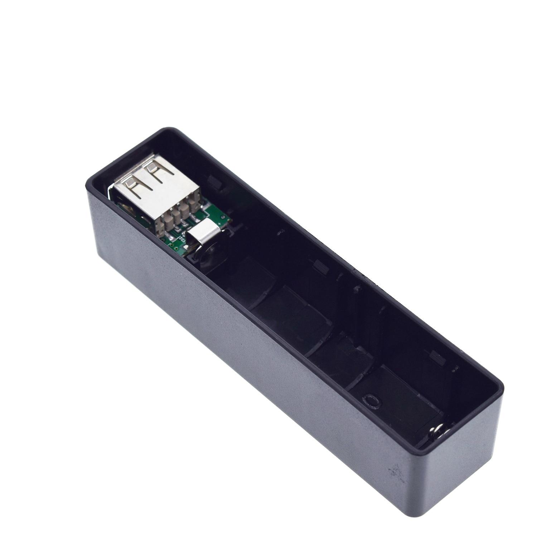 Funda de Banco de energía con USB Kit 18650 cargador de batería DIY caja Kit de carcasa negro para Arduino
