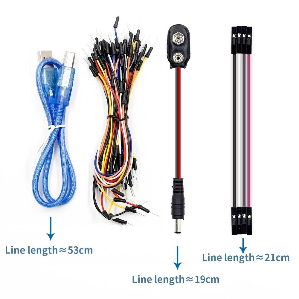 UNO proyecto el Kit de inicio más completo para Arduino UNO R3 Mega2560 Nano con Tutorial/Fuente de alimentación/Motor paso a paso