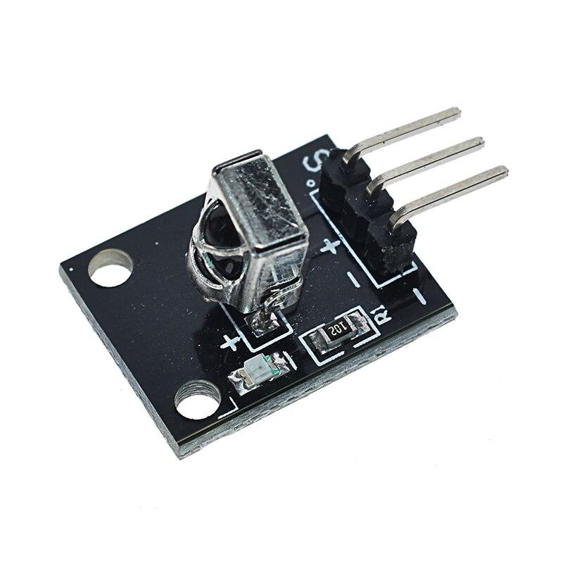 1 Juego de Kits de módulo de Control remoto inalámbrico infrarrojo IR DIY Kit HX1838 para Arduino Raspberry Pi