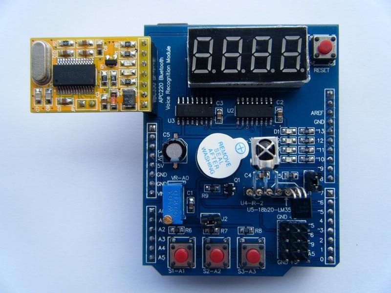 Escudo multifunción con zumbador LM35 4 dígitos Módulo de placa de expansión LED Digital para Arduino UNO R3 Lenardo Mega2560 Diy Kit