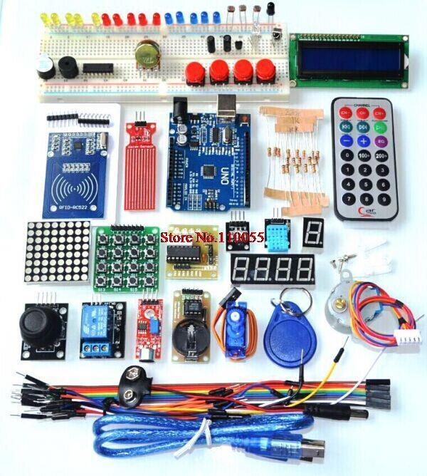 AEAK para Arduino UNO R3 RFID Starter Kit UNO R3 versión actualizada Learning Suite con caja al por menor