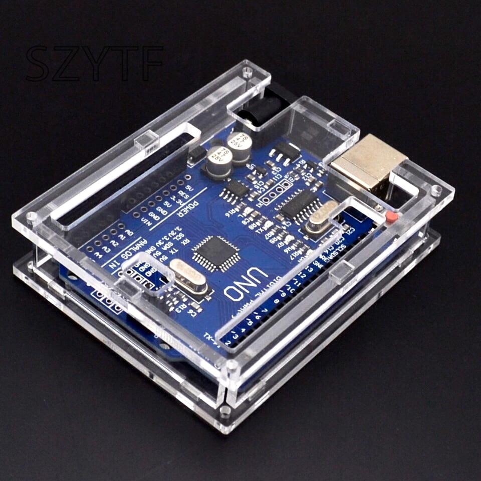 Smart Electronics UNO R3 Mega328P CH340G Placa de desarrollo para arduino Diy Starter Kit enviar carcasa para arduino uno