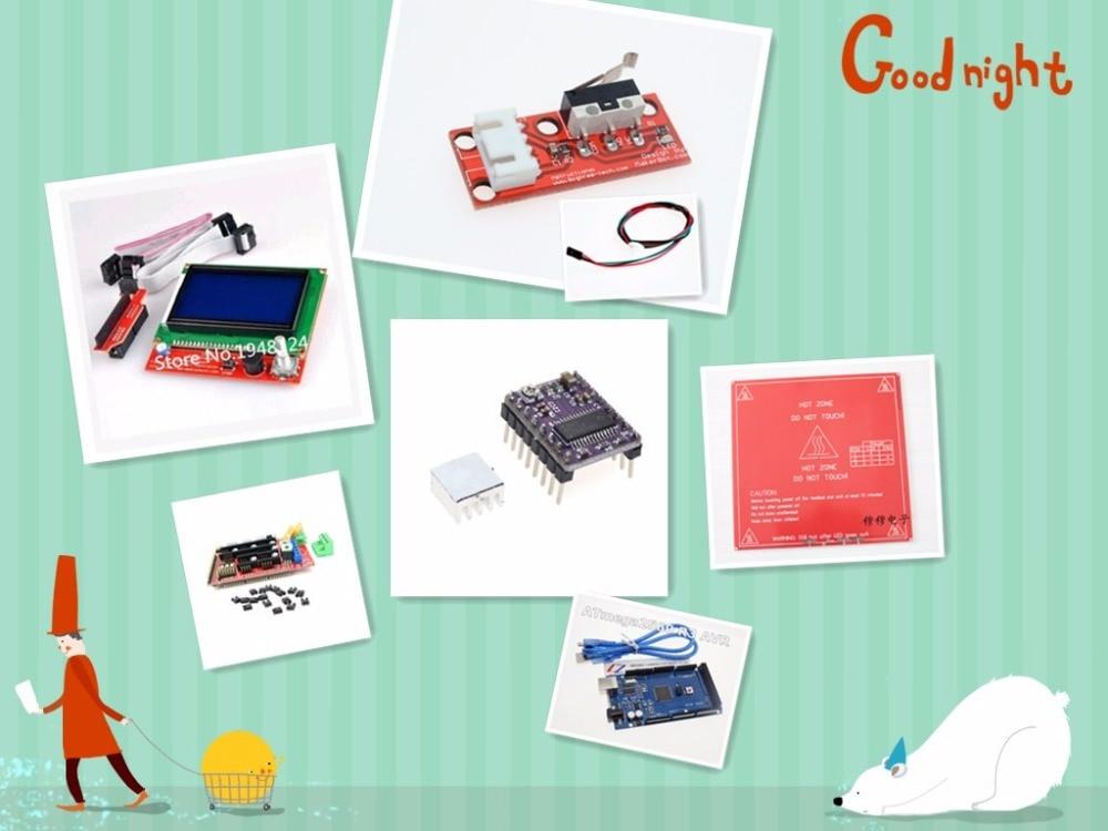 Envío Gratis 2560 mega r3 de kit de arrancador de motor servo RFID ultrasónico que van de LCD para arduino