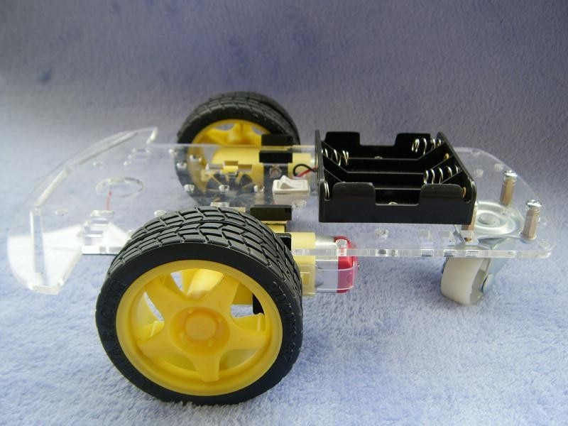 Nuevo Motor de seguimiento de evitación inteligente Robot Kit de chasis de coche codificador de velocidad caja de batería 2WD módulo ultrasónico para Arduino kit