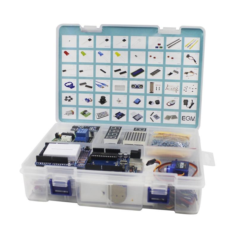 Elego UNO proyecto el Kit de inicio más completo para Arduino UNO R3 Mega2560 Nano con Tutorial/Fuente de alimentación/ motor paso a paso