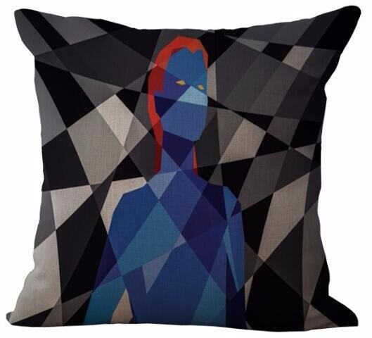 Funda de cojín de lino con impresión de superhéroe abstracto creativo sofá cama coche Dec Cubiertas Cortas impresas al por mayor FG578