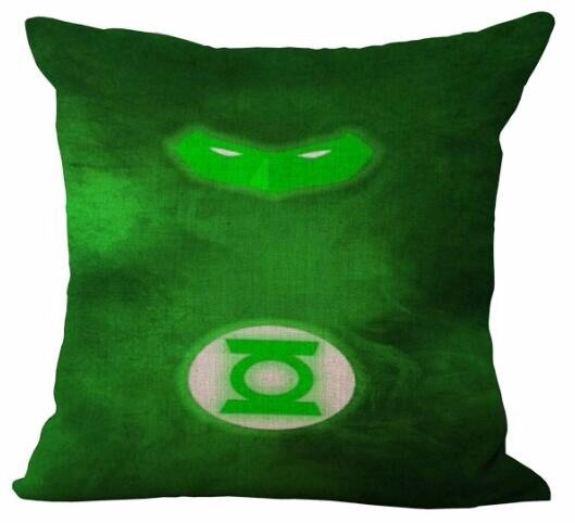 Funda de cojín de lino con impresión de superhéroe abstracto creativo sofá cama coche Dec Cubiertas Cortas impresas al por mayor FG580