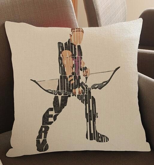 Nuevo súper héroe película creativa de dibujos animados alrededor de impreso funda de cojín de lino cojín sofá cama coche casa Dec venta al por mayor FG117