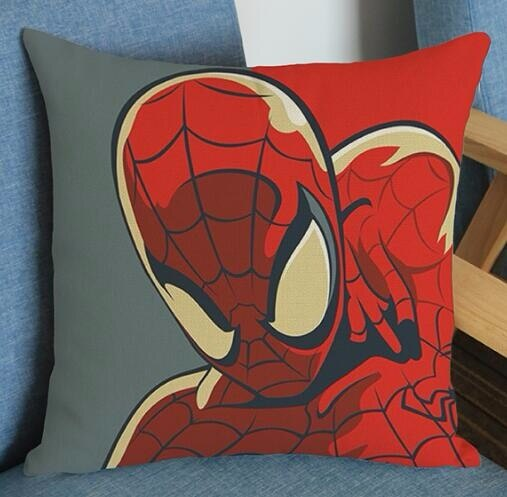 Super héroe Superman impreso funda de cojín de lino película cojín de lino fundas cuadradas sofá cama coche habitación Dec venta al por mayor FG503