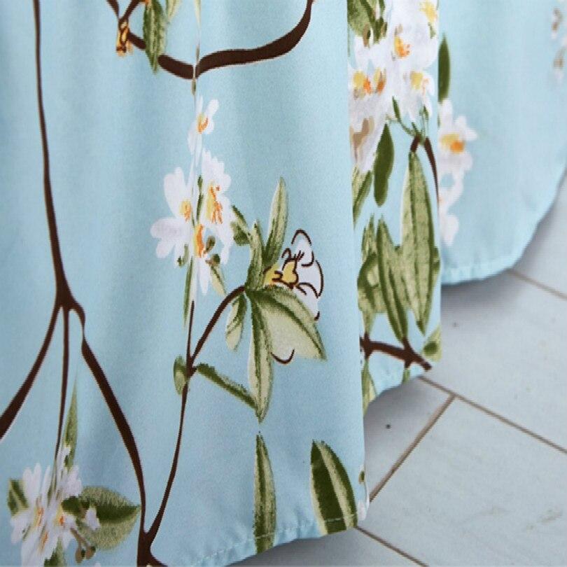 24 Estilo cama cubierta cama falda cama colcha envío gratis