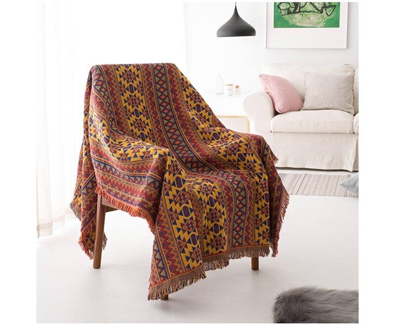 Funda de sofá de algodón colchas cama Runner ropa de cama cubierta de Mesa para el hogar Sunbath playa Toallas borla manta tiro estera de Yoga