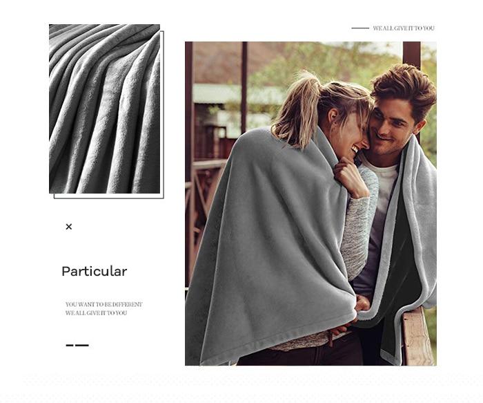 Manta gris colcha Super suave manta De lana sofá Cama coche Plaids portátiles decoración De invierno niños Mantas De Cama Color sólido