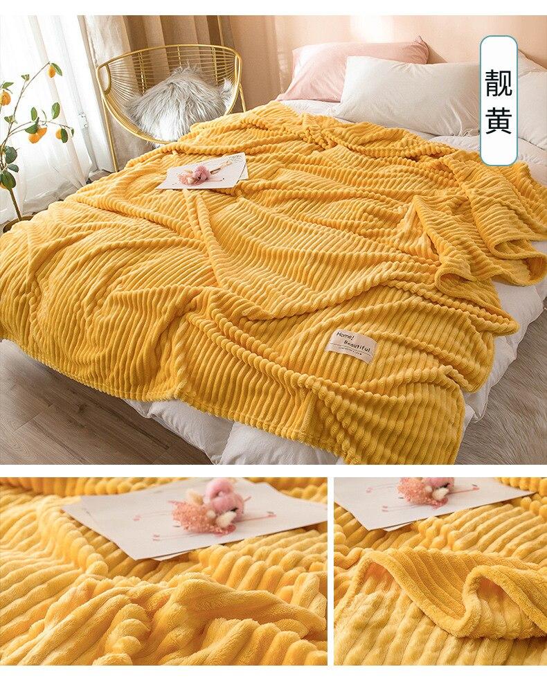 Manta de colores sólidos en relieve y mantas de colcha, mantas de felpa Extra grandes, manta personalizada 3 tamaños, 7 colores