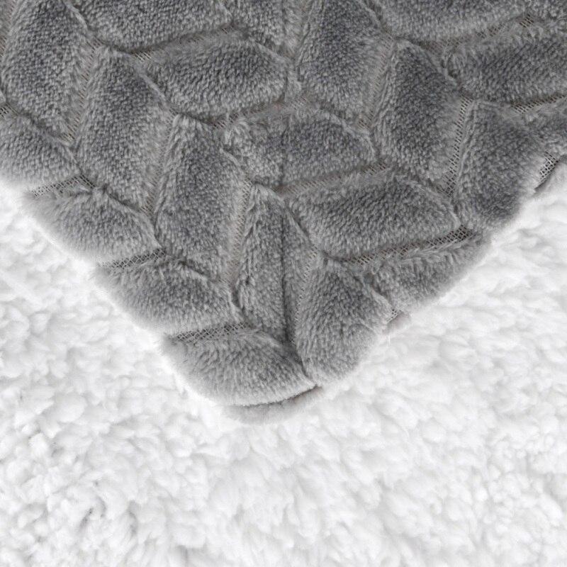 Manta suave ligera de doble cara de invierno manta de lana caliente manta sábana funda de sofá para dormir en casa sofá