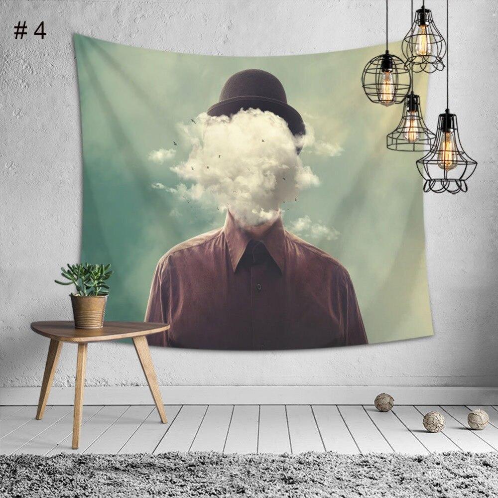 Gran Pared colgante belleza escénica tapiz impreso colcha cubierta decoración del hogar pared arte cama hoja