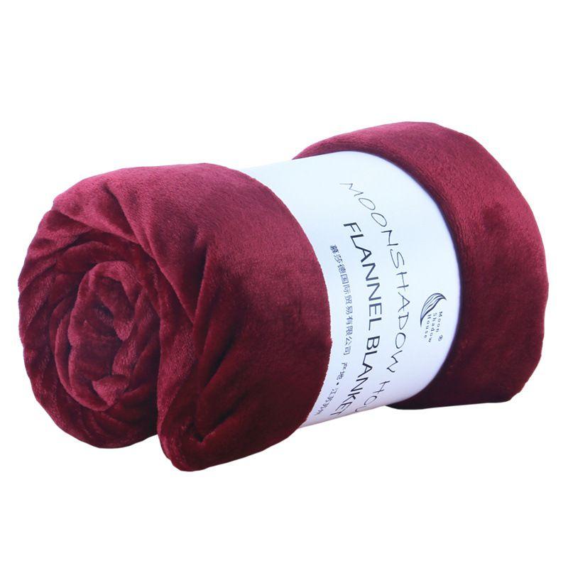 Paño grueso y suave de franela manta de ropa de cama viaje suave colcha funda de felpa para cama sofá cálido regalo HF